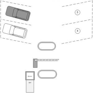 Паркинг с системой контроля занятости отдельных машиномест - заезд