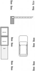Паркинг с разграничением по типу автомобиля - въезд авто
