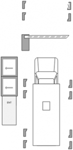 Паркинг с разграничением по типу автомобиля - въезд грузовика