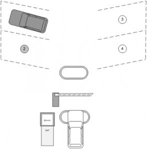 Паркинг с системой контроля занятости отдельных машиномест - въезд